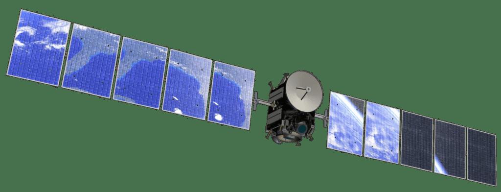 Uzay aracı Dawn ve uzay aracının güneş panelleri