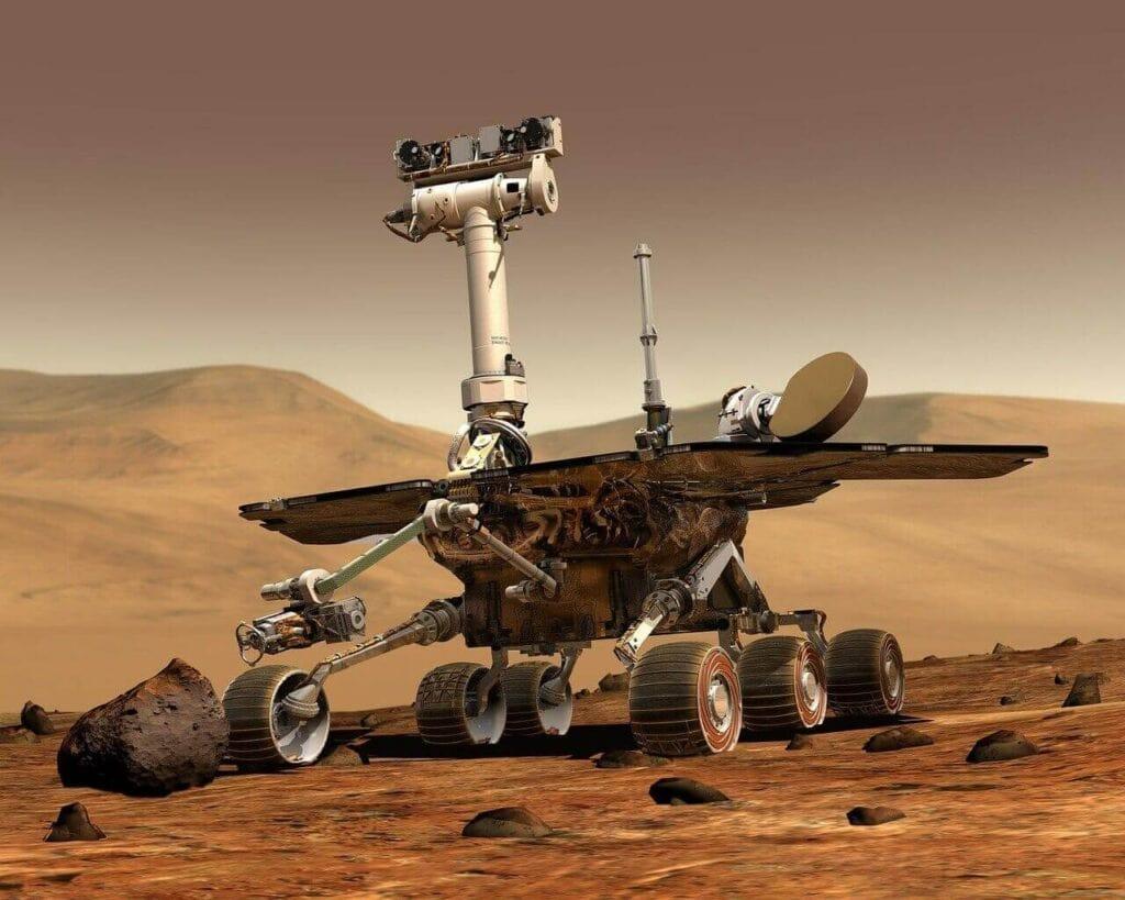 mars-yüzeyinde -hareket-eden -bir-uzay-aracı-rover