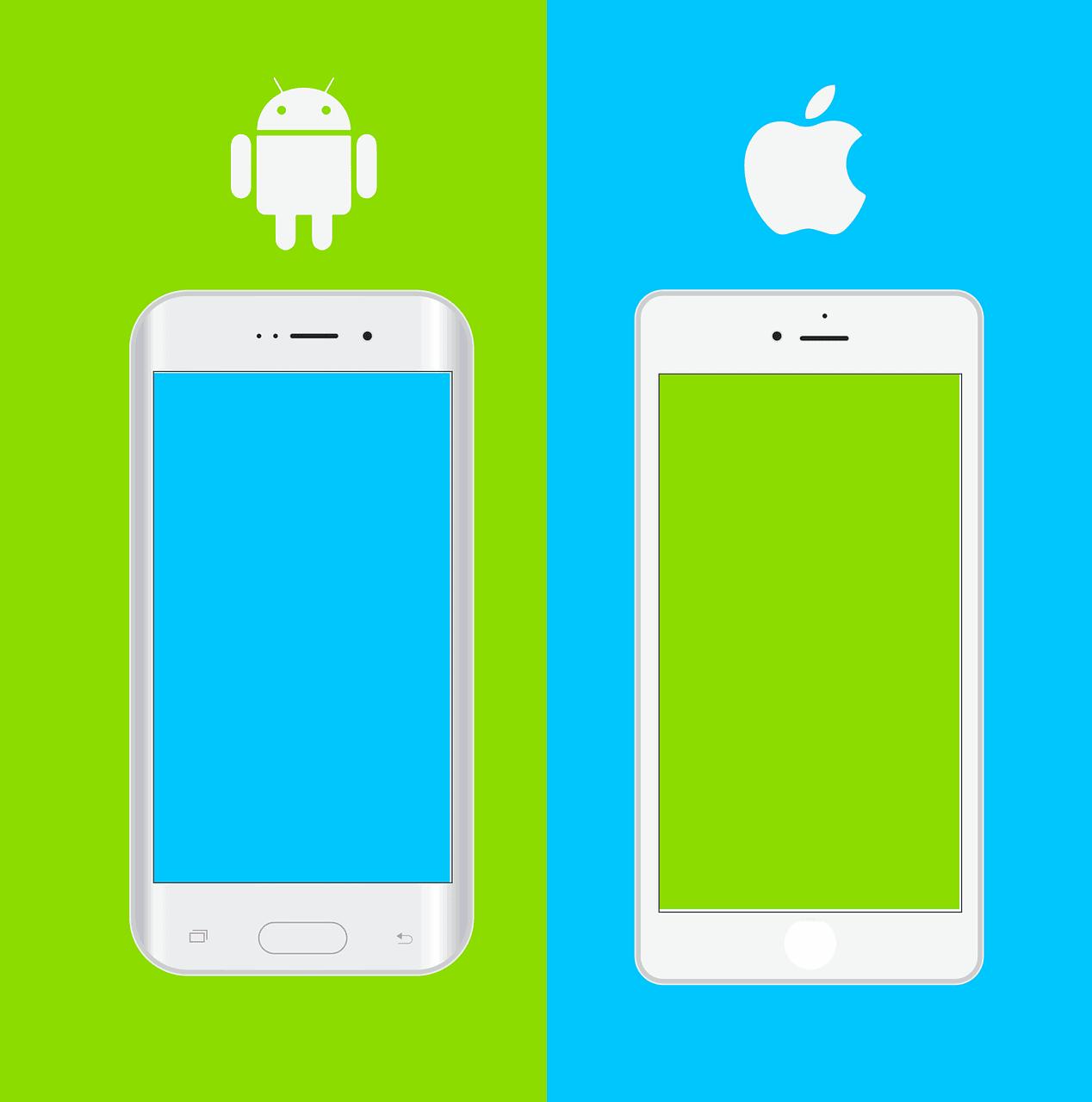 apple ve android telefonların karşilaştırılması.