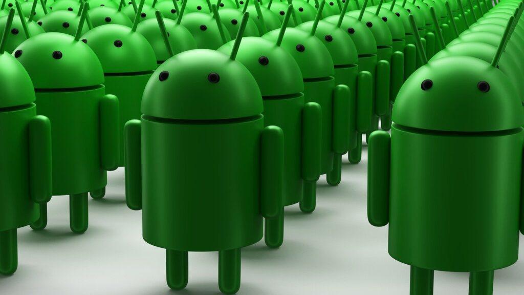 binllerce android işletim sisteminin logosu.